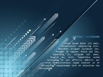 Abstract technology  background with arrow pattern and halftone effect Royalty Free Stock Image