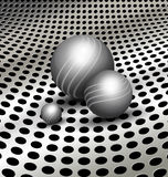 Abstract technology background with balls Royalty Free Stock Photos