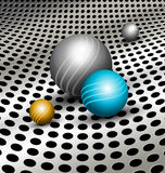 Abstract technology background with balls Stock Images