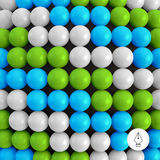 Abstract technology background with balls. Spheric pattern. Stock Photography