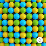 Abstract technology background with balls. Spheric Royalty Free Stock Photos