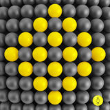 Abstract technology background with balls. Spheric Stock Photo