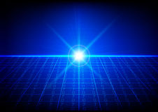 Abstract technology background of Binary code with light effect. Royalty Free Stock Images