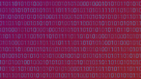 Abstract Technology Background. Binary Computer Code. Vector Ill Stock Image
