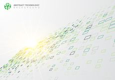 Abstract technology background blue border squares pattern persp Stock Photography