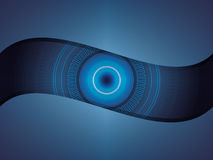 Abstract technology background. Abstract blue circle technology background Stock Photo