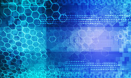 Abstract technology background blue Stock Photos