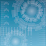 Abstract technology background. Blue abstract technology vector background Stock Photography
