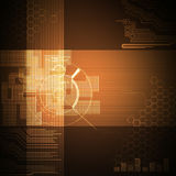 Abstract technology background brown Stock Photography