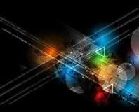 Abstract technology background Business & development direction Royalty Free Stock Photo