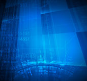 Abstract technology background Business & development direction Stock Photos