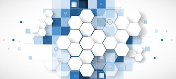 Abstract technology background Business & development direction royalty free illustration