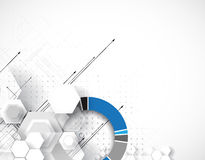 Abstract technology background Business & development direction Royalty Free Stock Images
