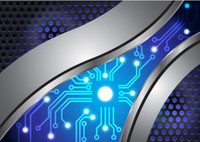 Abstract technology background circuit metal texture vector. Illustration Stock Photo