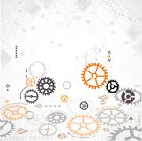 Abstract technology background. Cog wheel theme Stock Photos