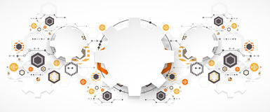 Free Abstract Technology Background. Cogwheels Theme. Stock Image - 66012511