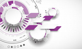 Abstract technology background. Cogwheels theme. Royalty Free Stock Photos
