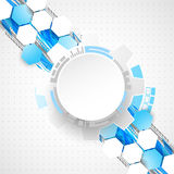 Abstract technology background. Cogwheels theme. Stock Photography