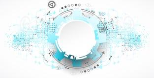 Abstract technology background. Cogwheels theme. Stock Photos