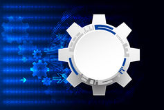 Abstract technology background. Cogwheels theme. Royalty Free Stock Image