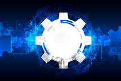 Abstract technology background. Cogwheels theme. Royalty Free Stock Images