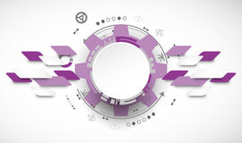 Abstract technology background. Cogwheels theme. Royalty Free Stock Photo