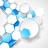 Abstract technology background. Cogwheels theme. Stock Images