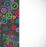 Abstract technology background with colorful gears. Royalty Free Stock Image