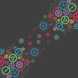 Abstract technology background with colorful gears. Stock Photography
