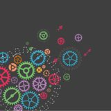 Abstract technology background with colorful gears. Royalty Free Stock Photography