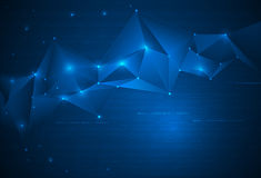 Abstract Technology background with cyberspace Royalty Free Stock Photo