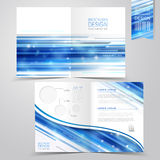 Abstract technology background design for half-fold brochure Royalty Free Stock Images