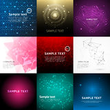 Abstract technology background for design vector illustration. Abstract background set and abstract nine backgrounds. Abstract pattern graphic background Royalty Free Stock Photos