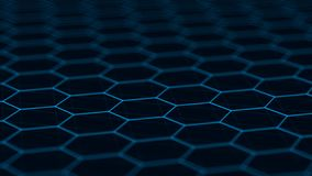 Abstract technology background. Futuristic hexagon background. Big data visualization. 3D rendering. Abstract technology background. Futuristic hexagon royalty free stock photo