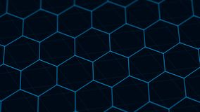 Abstract technology background. Futuristic hexagon background. Big data visualization. 3D rendering. Abstract technology background. Futuristic hexagon royalty free stock photos