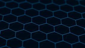 Abstract technology background. Futuristic hexagon background. Big data visualization. 3D rendering. Abstract technology background. Futuristic hexagon stock photo