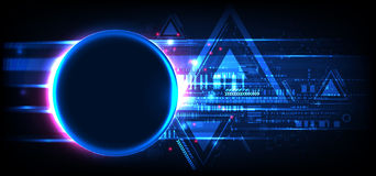 Abstract technology background. Futuristic style. Stock Photography