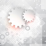 Abstract technology background with gears Stock Photos
