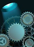 Abstract technology background with gears. Vector illustration stock illustration