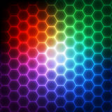 Abstract technology background with geometric elements Stock Images