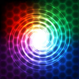 Abstract technology background with geometric elements Stock Photo