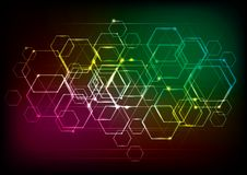 Abstract technology background for geometrical graphic concept design. Use layer overlay effect Royalty Free Stock Photography