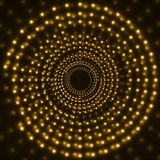 Abstract technology background of glowing circles. Vector Royalty Free Stock Photo