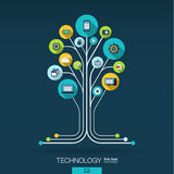 Abstract technology background. Growth tree concept Royalty Free Stock Images