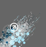 Abstract technology background with hexagonal shapes Royalty Free Stock Photo