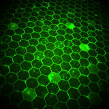 Abstract technology background, hexagonal template. Royalty Free Stock Photos