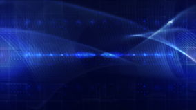 Abstract technology background LOOP blue royalty free illustration