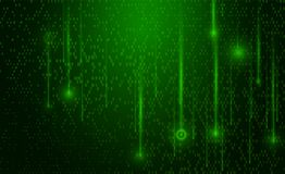 Abstract Technology Background. Matrix background. With the green symbols.  Computer Code. Programming. Coding. Hacker concept Royalty Free Stock Photography