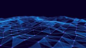 Abstract technology background. Network connection structure. Big data digital background. 3d rendering. Abstract technology background. Network connection stock illustration