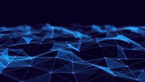 Abstract technology background. Network connection structure. Science background. 3d rendering. Abstract technology background. Network connection structure stock illustration